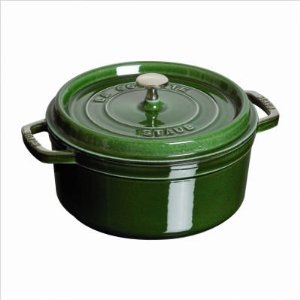 staub round cocotte basil