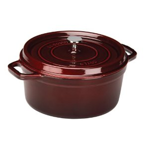 staub round cocotte grenadine