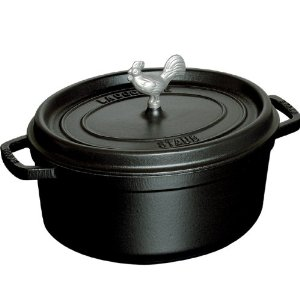 staub coq au vin cocotte black