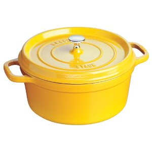 staub cocotte round lemon